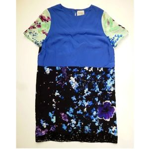 EUC Floral Blocked Silk Dress by Peter Som